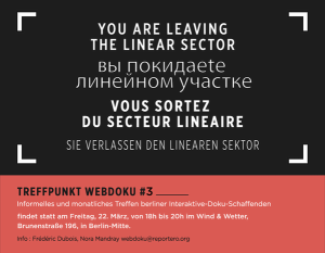Poster Treffpunkt Webdoku #3