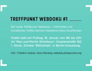 Poster Treffpunkt Webdoku #1